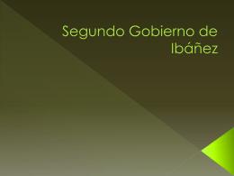 Segundo Gobierno de Ibáñe