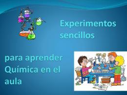 Experimentos sencillos para aprender Química en el