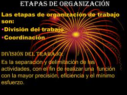 Etapas de organización