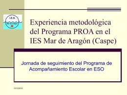 Experiencia metodológica del Programa PROA en el