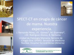 SPECT-CT en cirugía de cáncer de mama. Nuestra