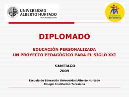 Experiencia Diplomado Educación Personalizada un