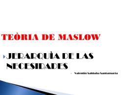 TEÒRIA DE MASLOW