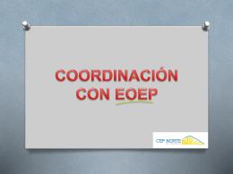 Preparamos la coordinación con EOEP zonales