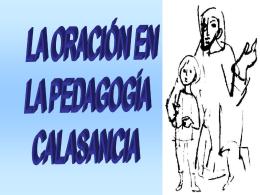 La oración en la pedagogía Calasancia