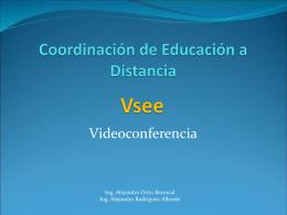 Vsee - Coordinación de Educación a Distancia -