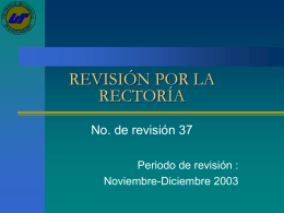 REVISIÓN DE LA DIRECCIÓN