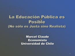 Crisis de la Educación en Chile Diagnóstico y