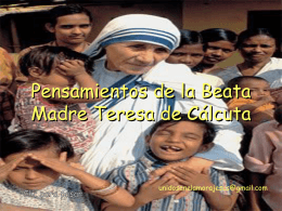 Pensamientos Madre Teresa de Calcuta