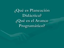 ¿Qué es Planeación Didáctica?