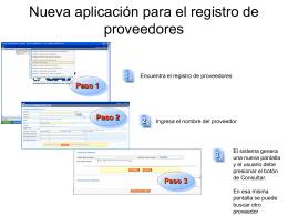 Nueva aplicación para el registro de proveedores