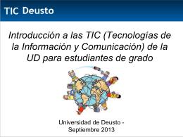 Introducción a las TIC (Tecnologías de la