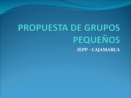 PROPUESTA DE GRUPOS PEQUEÑOS