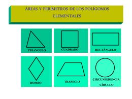 ÁREAS Y VOLUMENES DE LOS CUERPOS ELEMENTALES