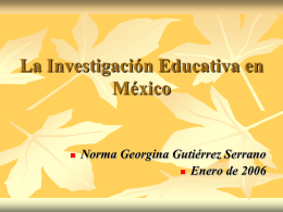 Investigar la Investigación Educativa en México