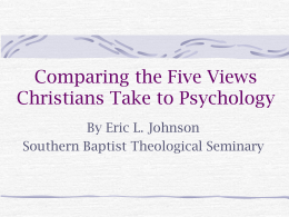 Comparing the Four Views Christians Take to
