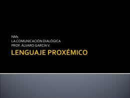 LENGUAJE PROXÉMICO