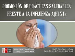 PROMOCIÓN DE PRÁCTICAS SALUDABLES FRENTE A LA