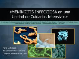 «MENINGITIS INFECCIOSA en una Unidad de Cuidados