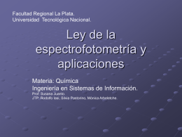 Ley de la espectrofotometría y aplicaciones