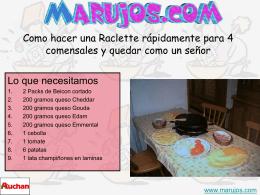 Como hacer una Raclette rápidamente para 8