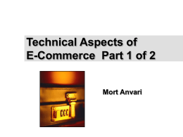 Technical Aspects of E