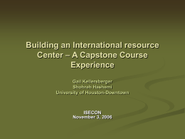 Building an International resource Center – A