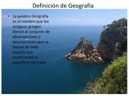 Definición de Geografía