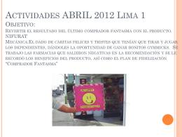 Actividades 2012 Lima 1 Objetivo: Los negativos en