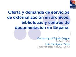 Oferta y demanda de servicios de externalización