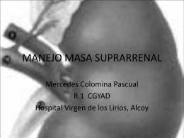 TUMORES DE LA GLÁNDULA SUPRARRENAL