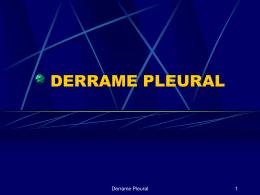 DERRAME PLEURAL CONDUTA CIRÚRGICA