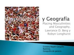 Masculinidades y Geografia