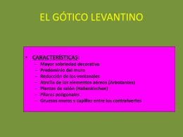 EL GÓTICO LEVANTINO