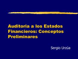 Curso: Auditoría a los Estados Financieros.