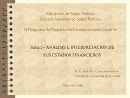 Tema 3 - Análisis e Interpretación de sus Estados