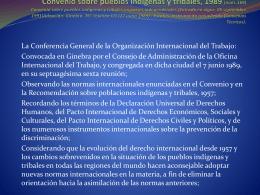 Convenio sobre pueblos indígenas y tribales, 1989