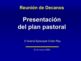 Reunión de Planeación Pastoral Socio