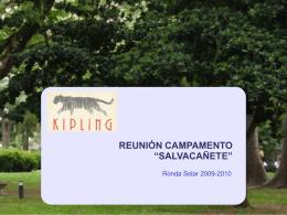 """REUNIÓN CAMPAMENTO """"SALVACAÑETE"""""""