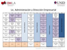 Lic. Administración y Dirección Empresarial