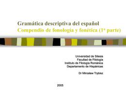 Gramática descriptiva del español Fonología y