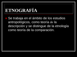 ETNOGRAFÍA
