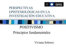 PERSPECTIVAS EPISTEMOLÓGICAS EN LA INVESTIGACIÓN
