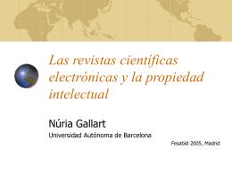 Las revistas científicas electrónicas y la