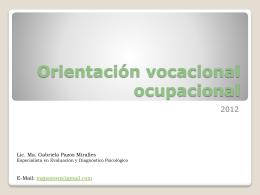Orientación vocacional ocupacional