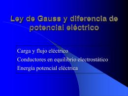Ley de Gauss y diferencia de potencial eléctrico