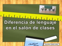 Diferencia de lenguaje en el salón de clases