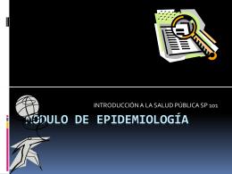 MÓDULO DE EPIDEMIOLOGÍA