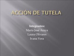 ACCIÓN De Tutela - Trabajo Social UDLA