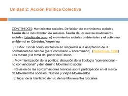 Unidad 4: Acción Política Colectiva